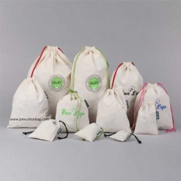 Wholesale Customized Organic Cotton Drawstring Bags Manufacturers in Singapore