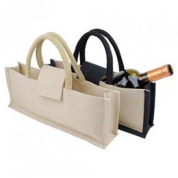 Wholesale Single Bottle Jute Cotton Wine Tote Bags Manufacturers in Italy