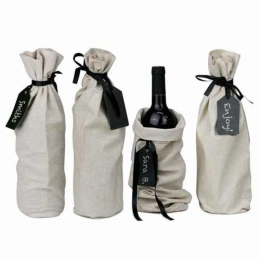 Wholesale Single Bottle Natural Cotton Muslin Wine Bags Manufacturers in Italy