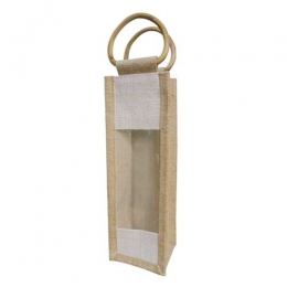 Wholesale 1 One Bottle Jute Wine Gift Bags Manufacturers in California