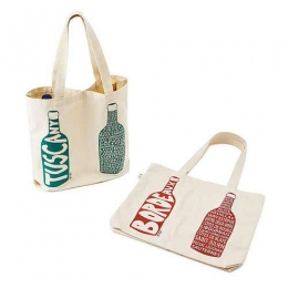 Wholesale 2 Bottle Cotton Canvas Wine Divider Shpper Bags Manufacturers in Saudi Arabia