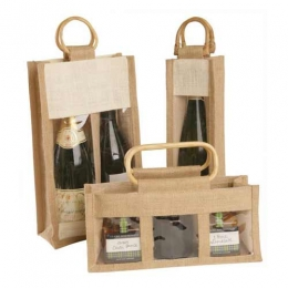 Wholesale One Two Three Bottle Jute Gift Wine Bags Manufacturers in California