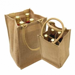 Wholesale 6  Six Bottle Wine Tote Bag With Storage Compartents Manufacturers in California