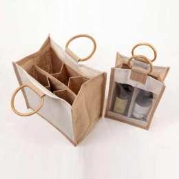 Wholesale Two Bottle And Four Bottle Cotton Canvas Wine Bags Manufacturers in Saudi Arabia
